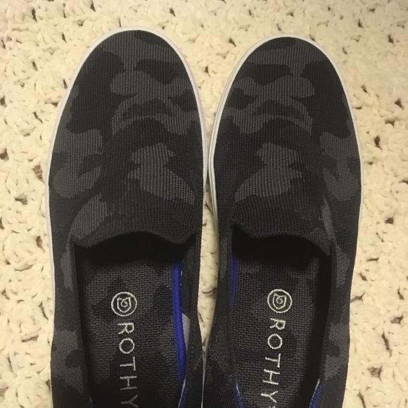 Rothys Grey Camo Sneakers